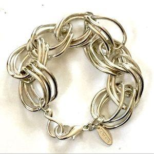 TALBOTS Silver Thick Chunky Bracelet